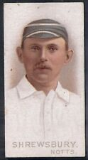 WILLS-CRICKET CRICKETERS 1896- NOTTINGHAM - SHREWSBURY