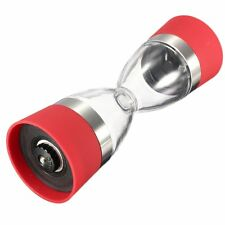Orii 2in1 Dual salt & pepper grinder hour glass mill red free shipping