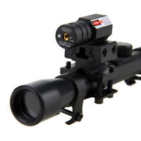 Tactical Red Laser Beam Dot Sight Scope Telescopic Sight With Scope Mounts 20mm