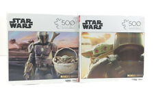 Lot Of 2 Star Wars The Mandalorian The Child Baby Yoda 500pc Jigsaw Puzzle NEW