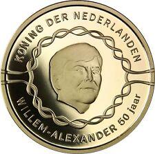 Niederlande 50 Euro 2017 König Willem Alexander Goldmünze zum 50. Geburtstag