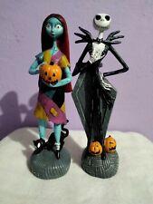 Nightmare Before Christmas Jack Skellington Sally Figure Statue Set of 2