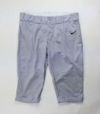 Nike Stock All Out 3/4 Softball Pant Women's 2XL Gray 553208 Dri-FIT