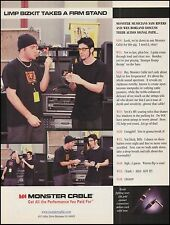 Sam Rivers & Wes Borland (Limp Bizkit) 1999 Monster Guitar Cables 8 x 11 ad