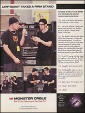 Sam Rivers & Wes Borland (Limp Bizkit) 1999 Monster Guitar Cables 8 x 11 ad