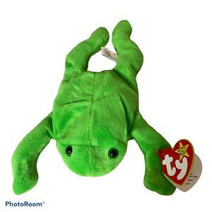 Ty Beanie Babies Smoochy Frog Retired 1997 Plush Stuffed Animal Toy Baby