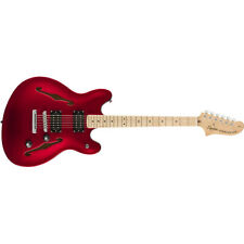 Squier by Fender Affinity Series Starcaster Guitar, Maple Board, Candy Apple Red