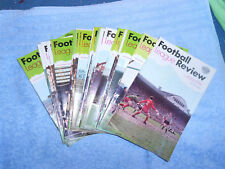 28 x DIFFERENT FOOTBALL LEAGUE REVIEWS 1969-70 (400 SERIES)- EXCELLENT CONDITION
