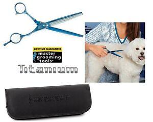 Master Grooming Tools TITANIUM THINNING SHEAR SCISSOR Pet Dog Blending Blender