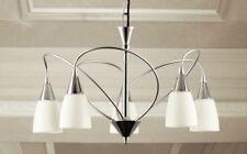 Lampadario classico 5 luci in metallo cromato e vetri coll. Dese 3720-5