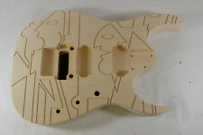 Engraved Basswood JPM Guitar body fits Ibanez(tm) 6 string RG and Jem Necks P596