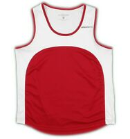 Brooks Womens Red White Mesh Athletic Running Tank Top Size Medium