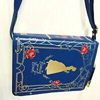 NEW Disney Target Beauty & The Beast Book shaped Purse Rose Belle Girls Bag Blue