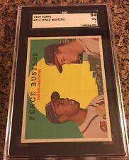 1959 Topps Fence Busters Hank Aaron Ed Mathews #212 Graded SGC 84 NM