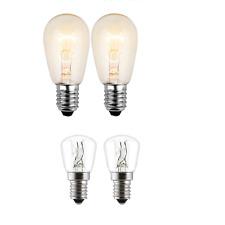 2 X Himalayan Salt Lamp Bulb 15W E14 Screw Pygmy Light Bulbs Set Clear Free P&P