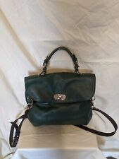 Marni Forest Green Leather Crossbody Handbag