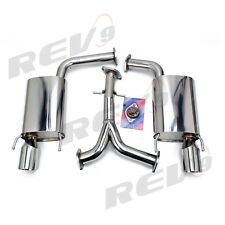 Rev9 FlowMaxx Stainless Axle-Back Exhaust 62mm Pipe Fit Lexus GS300/GS350 06-11