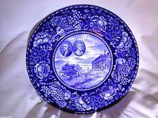 STAFFORDSHIRE GEORGE & MARTHA WASHINGTON PORTRAITS ON MT. VERNON PICTURE PLATE