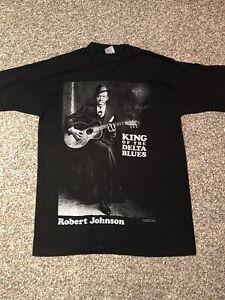 Vintage Robert Johnson Blues Music T-shirt Tee Shirt 1991 Sz M Size Medium