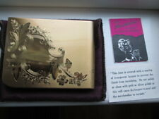 Nyp Compact American Beauty By Elgin American Gold Tone Unused W Box & Pouch
