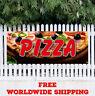 Banner Vinyl Pizza Advertising Sign Flag Fresh Hot Subs Restaurant Pie Bar Store