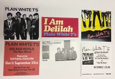 New listing Plain White T's - 3 Promo Stickers for cd/dvd All That We Needed/Big Bad World
