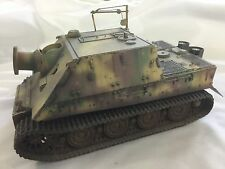 BUILT 1/35 SCALE GERMAN STURMTIGER WITH INTERIOR AND PHOTOETCHED PARTS