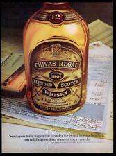 1979 Chivas Regal Scotch whisky IRS income tax form 1040 photo vintage print ad