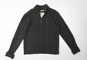 Fat Face Mens Brown  Knit Pullover Jumper Size L