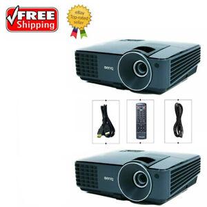 Lot of 2 - BenQ MX520 DLP Projector 3000 ANSI HD 3D HDMI w/Accessories, Remote