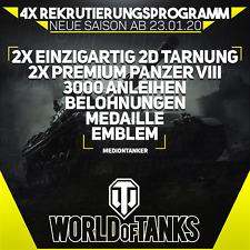World of Tanks | 4x Rekrutierungsprogramm | EU Server | !!! Angebot !!!