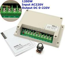 Input AC220V Output DC 0-220V Motor Speed Controller 1200W -10~+65 Centigrade