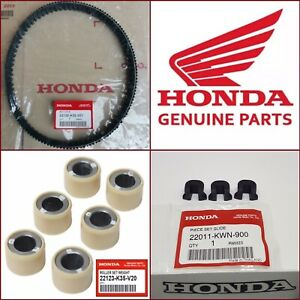 Genuine Honda PCX 125 Drive Belt + Roller Weights + Sliders 2015-2017 *UK SELLER