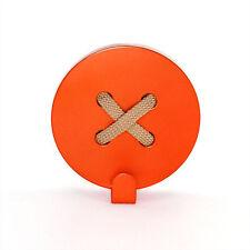 Metal Coat Rack Wall Hooks Steel Orange Button Handmade Hanger FREE SHIPPING
