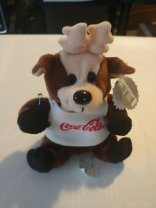 Coca-Cola Bean Bag Plush style 0133 Reindeer in shirt 1997 Animal Plush