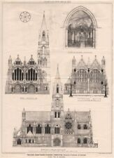 Building News Church planning competition, design by R.H. Haines, of Oxford 1873