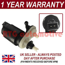 FOR VAUXHALL ASTRA H MK5 2004- FRONT REAR TWIN OUTLET WINDSCREEN WASHER PUMP