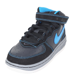 Nike Air Force 1 MID 314197 041 Toddlers Shoes Black Leather Sneakers Size 8 C