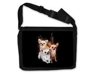 Umhängetasche Schultertasche Tasche Chihuahua Hund Geschenk Hunderasse Dog
