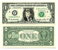 JOHNNY HALLYDAY - VRAI BILLET de 1 DOLLAR US ! COLLECTION Rock Français 2