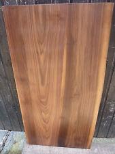 35 mm Nussbaum Massiv Holz Platte-Waschtisch-Regal-  100 cm - 1-seit. Baumkante