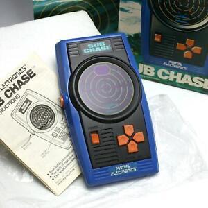 MINTY 1978 Mattel Electronics SUB CHASE Digital Handheld Game w/ Original Box