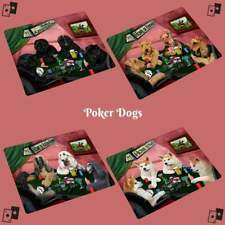 Home of Dogs Cats Playing Poker Refrigerator Magnet Home Décor Gifts
