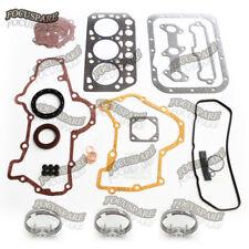 Engine Gasket Kit+Piston Ring Set for Mitsubishi K3D TU170F TU177 Toro 72D 322D