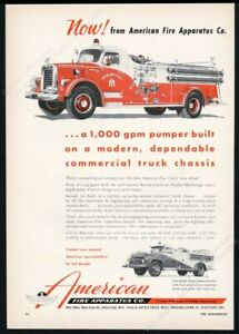 1957 Annapolis MD fire engine truck photo American vintage print ad