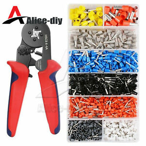 Ratcheting Ferrule Crimper Plier HSC8 6-4A 0.25-10mm² AWG23-7 Wire Tool B2AD
