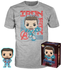 FUNKO POP! Avengers 4: Endgame - Iron Man Glow in the Dark Figure + T-Shirt Box