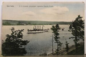 New York NY NYC US Cruiser Brooklyn Grants Tomb Grands Postcard Old Vintage Card