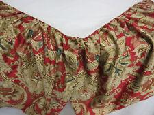 RALPH LAUREN Gold Green Red Paisley JARDINIERE King ITALIAN COTTON Bed Skirt