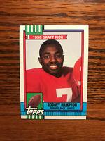1990 Topps #48 Rodney Hampton Football Card New York NY Giants Rookie RC NFL Raw